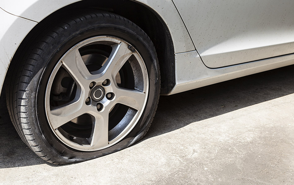 Tyre Going Flat Inspection