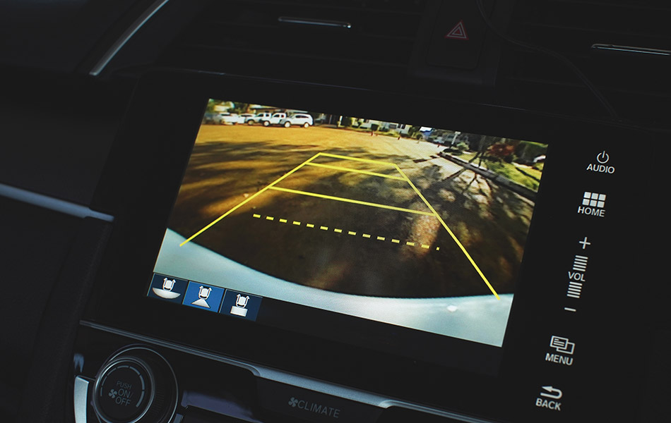 Reversing camera screen